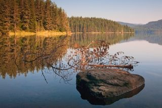 Let Your Worry Go - Quiet Lake - by Evgeni Dinev at freedigitalphotos dot net